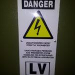 LV Warnig Sign