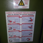 Fire and CPR Procedure Signs
